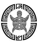 Roda tribal da tartaruga. Estilo do tatuagem Imagens de Stock Royalty Free