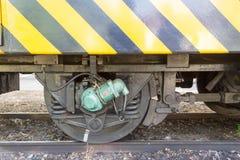 A roda velha da estrada de ferro Imagens de Stock Royalty Free
