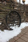 Roda velha do ferro fotografia de stock royalty free