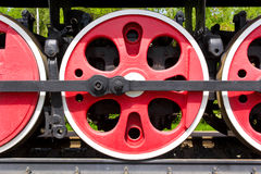 Roda velha do trem Imagem de Stock