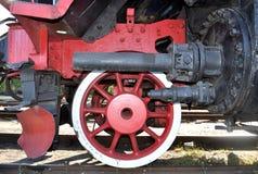 Roda vermelha locomotiva velha Imagem de Stock