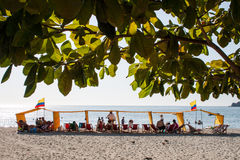 Rodadero plaża Zdjęcia Royalty Free