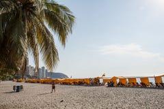 Rodadero strand Arkivfoto