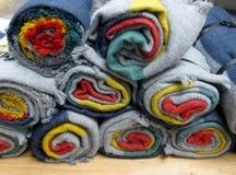 Rodado encima de las mantas de las lanas Fotografía de archivo libre de regalías