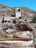 Rodalquilar-abandoned gold mines. Almeria -Andalusia-Spain Royalty Free Stock Images