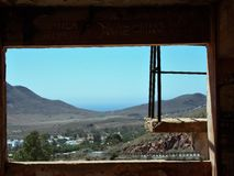 Rodalquilar-abandoned gold mines. Almeria -Andalusia-Spain Royalty Free Stock Image
