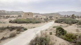 Rodalquilar, cabo de gata, Andalusia, spagna, Europa, torre dell'allume Fotografia Stock Libera da Diritti