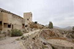 Rodalquilar, cabo de gata, andalusia, spain, europe, old gold mines. View of old abandoned gold mines in rodalquilar Stock Image