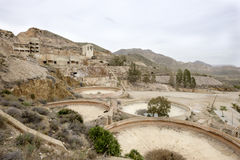 Rodalquilar, cabo de gata, andalusia, spain, europe, old gold mines. View of old abandoned gold mines in rodalquilar Stock Photos
