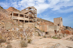 Rodalquilar gold mine ruins, Cabo de Gata Natural Park Royalty Free Stock Images