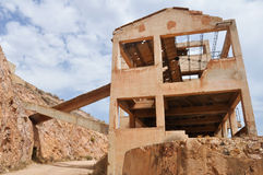 Rodalquilar gold mine ruins, Cabo de Gata Natural Park Stock Photos