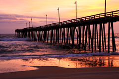 Rodanthe Pier. Rodanthe/Hatteras Island Pier located on the Outer Banks, NC Stock Images