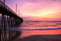 Rodanthe Pier. Rodanthe/Hatteras Island Pier located on the Outer Banks, NC stock photo