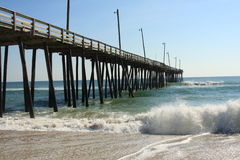 Rodanthe Pier. Located in Outer Banks, North Carolina Royalty Free Stock Image