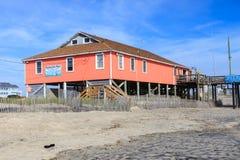 Rodanthe Pier Outer Banks North Carolina arkivbilder