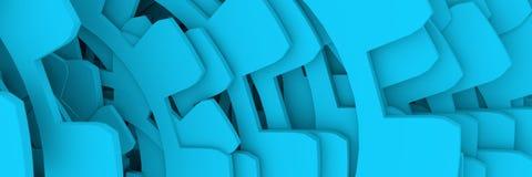 Rodas azuis da roda denteada Fotos de Stock