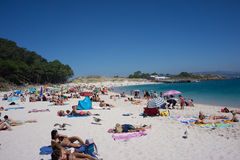 Rodas Beach on Cies Island Stock Photography
