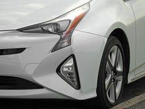 Rodas brancas da liga do carro de esportes do diamante moderno Foto de Stock Royalty Free
