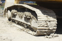 Rodas Chain de uma máquina escavadora Fotografia de Stock Royalty Free