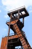 Rodas da cabeça de poço da mina de carvão Fotos de Stock Royalty Free