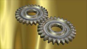 Rodas da roda denteada ilustração royalty free