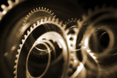 Rodas da roda denteada fotografia de stock