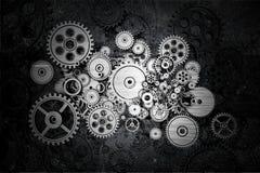 Rodas da roda denteada do Grunge Fotografia de Stock