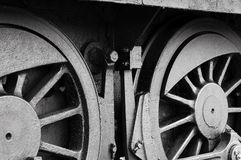 Rodas de aço Fotografia de Stock Royalty Free