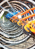 Rodas de bicicleta fotografia de stock