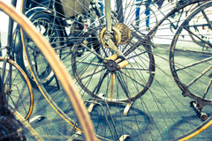Rodas de bicicleta Foto de Stock Royalty Free