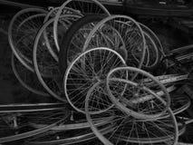 Rodas de bicicleta Fotografia de Stock Royalty Free