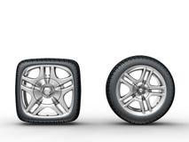 Rodas de carro ilustração royalty free