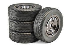 Rodas de carro, rendição 3D ilustração stock