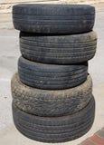 Rodas de carro usado Imagem de Stock Royalty Free