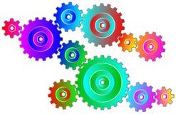 Rodas de engrenagem coloridas Imagem de Stock Royalty Free