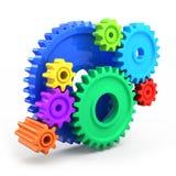 Rodas de engrenagem coloridas Foto de Stock Royalty Free