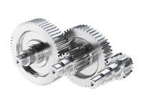 Rodas de engrenagem de aço Imagens de Stock