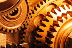 Rodas de engrenagem do motor imagens de stock