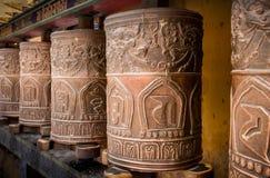 Rodas de Kora Prayer fotografia de stock