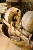 Rodas de moedura velhas da oficina Fotos de Stock Royalty Free
