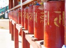 Rodas de oração Fotografia de Stock