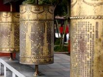Rodas de oração fotografia de stock royalty free