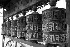 Rodas de oração budistas Fotografia de Stock Royalty Free