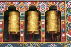 Rodas de oração budistas Foto de Stock Royalty Free