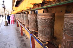 Rodas de oração do palácio de Potala fotografia de stock royalty free