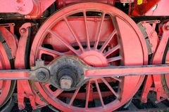 Rodas de uma locomotiva de vapor velha - Heilbronn Alemanha imagem de stock