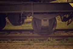 Rodas de vagão do trem do estilo antigo imagem de stock