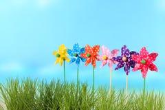 Rodas de vento para crianças Foto de Stock Royalty Free