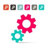 Rodas denteadas - ícones das engrenagens Fotos de Stock