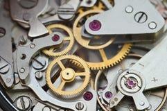 Rodas denteadas do metal no maquinismo de relojoaria, trabalhos de equipa do conceito Fotografia de Stock Royalty Free